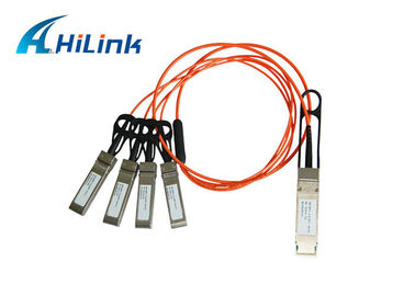 Cina 40G Rate SFP Transceiver Module QSFP Ke 4xSFP + AOC Active Optical Cable pabrik