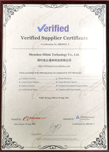 Cina Shenzhen HiLink Technology Co.,Ltd. Sertifikasi